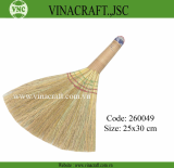 Nice straw broom with wood handle
