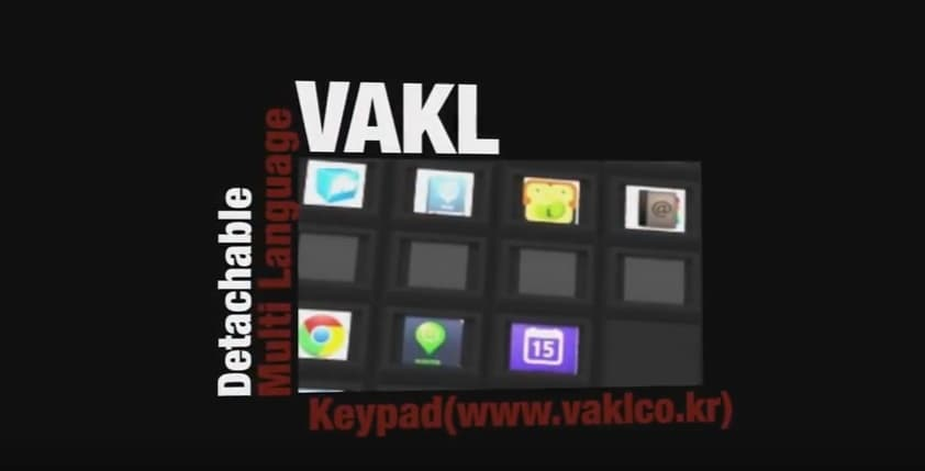 VAKL Custom Multi_Language Keypad_Detachable_