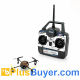 Ladybird - 4 Channels RC Quad Copter with Gyro (2.4GHz, 50 Meter Range)
