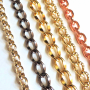 Colored Aluminum Chains for decoration and for Belts etc