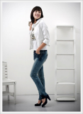 [Mido Industry] Blue Slim Straight Jeans