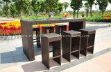 Poly rattan bar set