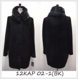 [Keosan Apparel] Luxury Coat for Women (12KAP02-1(BK))