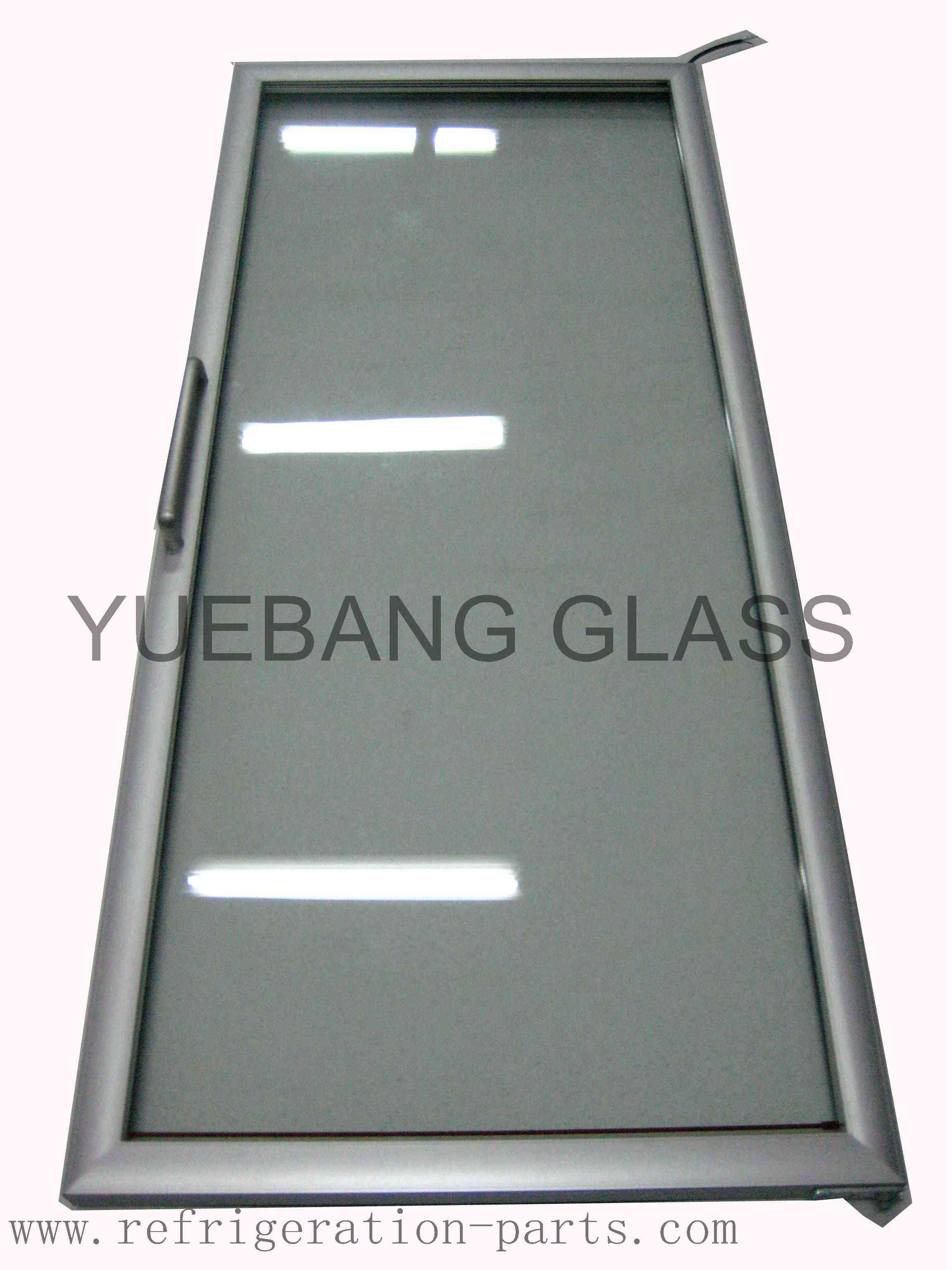90 Degree Positioning Freezer Glass Door