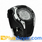 Waterproof Fishing Barometer Watch with Altimeter, Thermometer, Weather Forecast, Timer