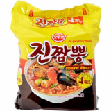 Korean Jin Jjambbong Ramen Hot Spicy Seafood Instant Noodles
