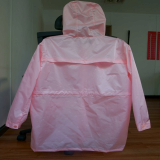 fashion raincoat-back side