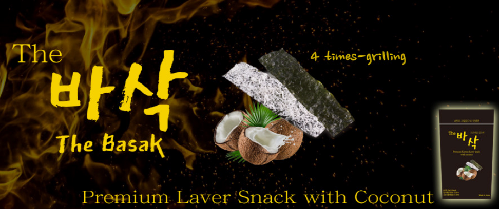 laver snack with coconut