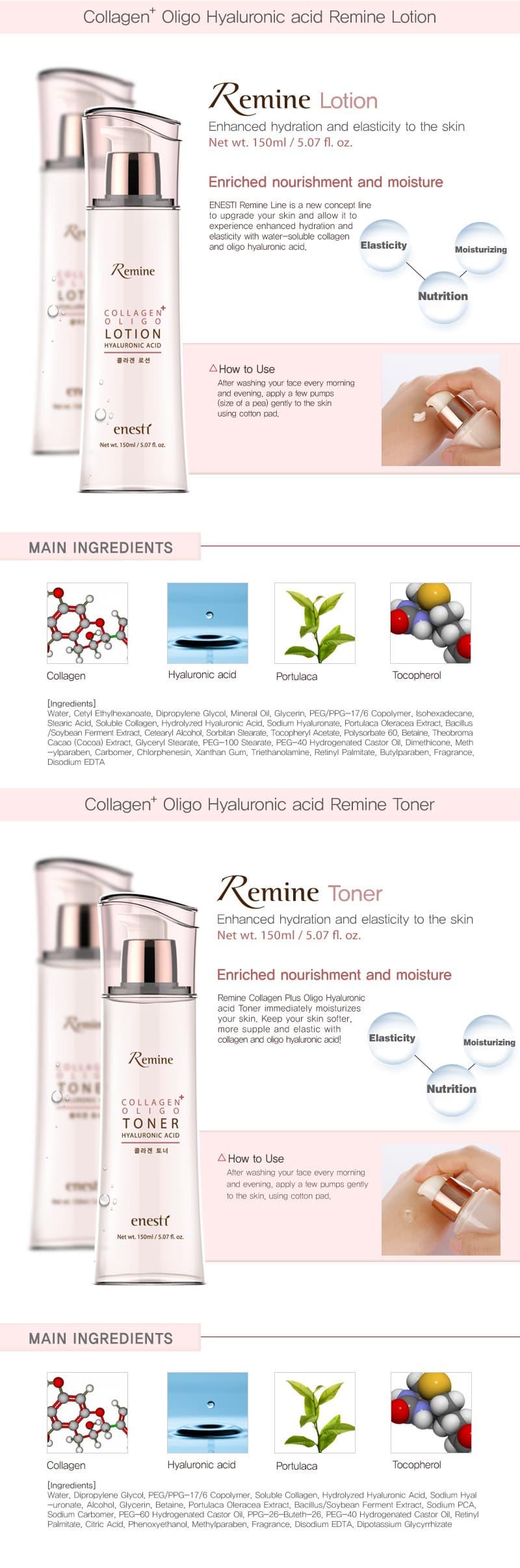 Remine Collagen Hyaluronic acid Skincare | tradekorea