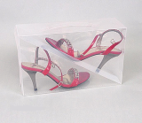 plastic clear shoe boxes-storage shoe box