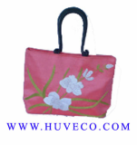 Ladies Handmade Floral Silk Handbag