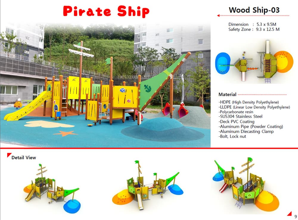 Playground equipment-PIRATE SHIP-