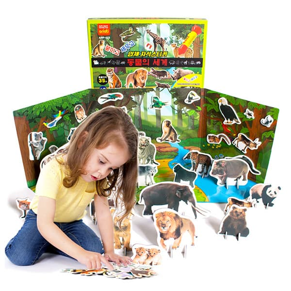 3D magnetic sticker_animal world_