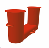 Ship NS 2584 Bolllards (Double Bitt)
