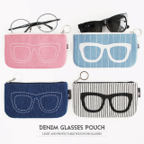 THE BASIC Denim Glasses Pouch