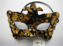 Masquerade Party Glitter Golden Printing Masks