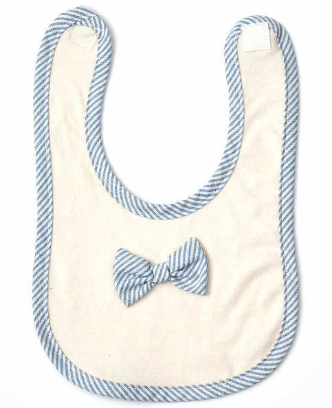 _minkelepang_ Plaid Organic Ribbon Bib