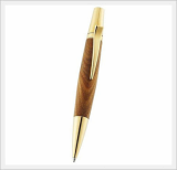 Aria Wooden Ball Point Pen(Lignum Vitae 24k Ipg Gold Plated)