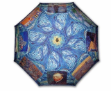 Gogh collection painting long size automatic umbrella
