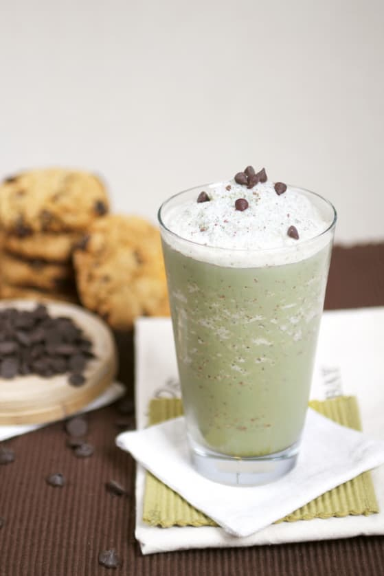 Green Tea Mint Choco Chip Frappe Mix