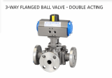 3-WAY FLANGED BALL VALVE - DOUBLE ACTING