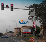 Solar powered LED arrow direction traffic signal light