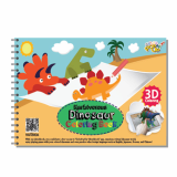 3D Coloring Book Dinosaur