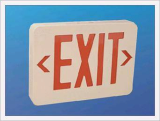 Plastic LED Exit Signs