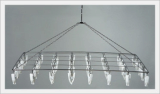 Stainless Steel Clothespin Hanger