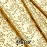 24K Gold Plated Fabric with Nanocoating _ Jacquard Fabric