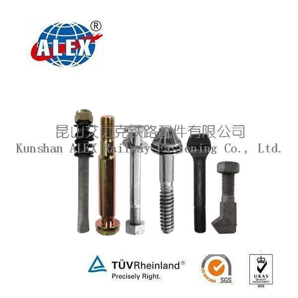 Undercarriage parts Rail bolt track bolts for rail fastener