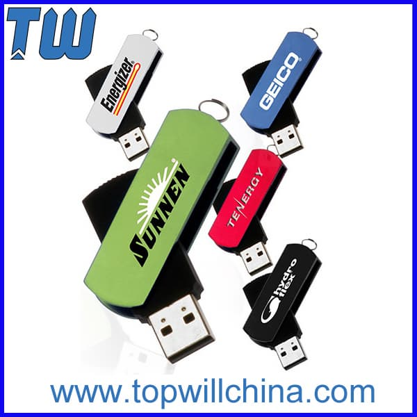 Classic Swivel Colorful Flash Drive Usb Free Key Ring