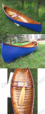 Navy Blue Canoe With Ribs Curve Bow -L300-