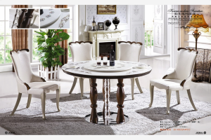 product thumnail image product thumnail image zoom natural round marble dining table with lazy susan furniture