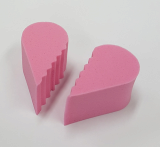 Cosmetic heart puff _Beauty tools_