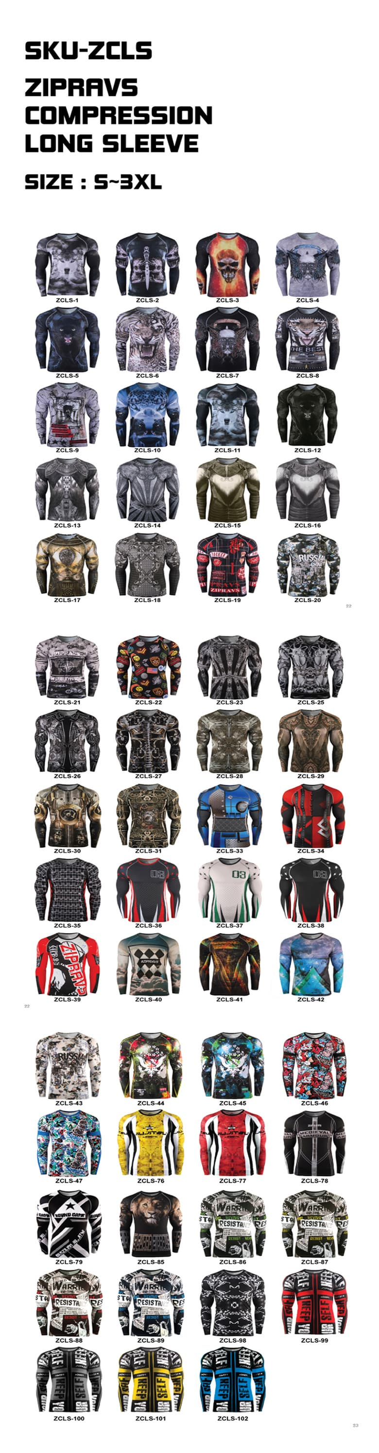 Rashguards Compression MMA BJJ Long Sleeve T Shirts