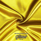 24K Gold Plated Fabric with Nanocoating _ Plain Silklike