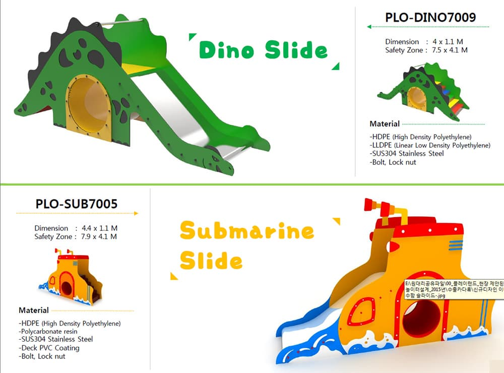 playground equipment-DINO SLIDE-