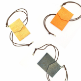 Eco_Friendly Cork Wallet Necklace