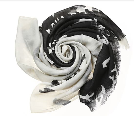 TWO TONE CREATURE SCARF