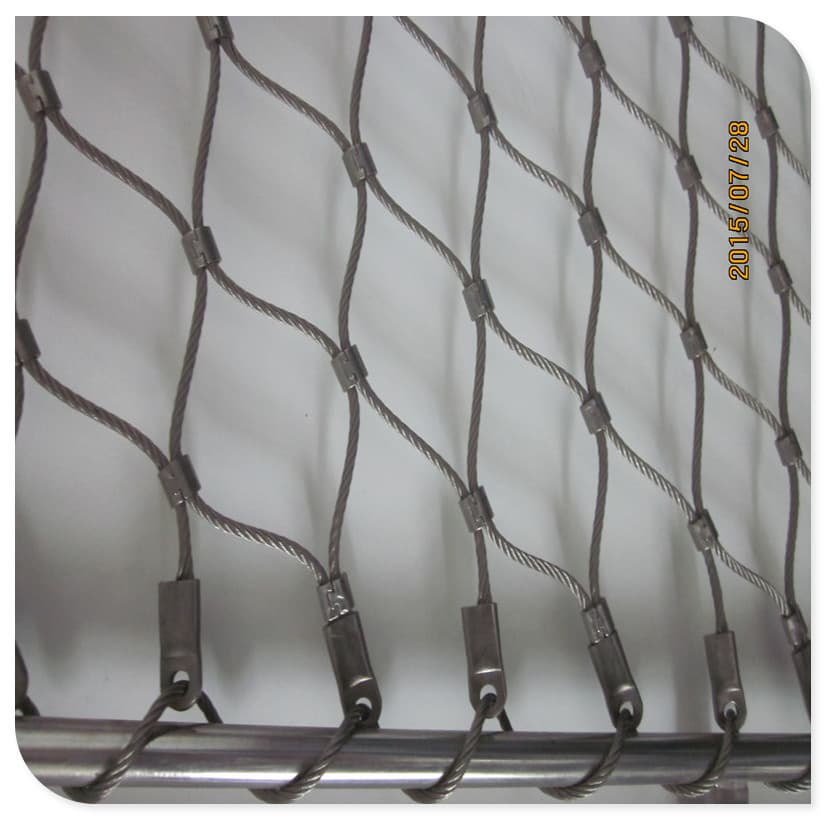 Customized Flexible Stainless Steel Cable Wire Mesh from Anping ...