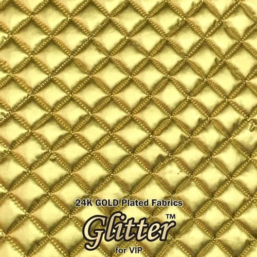 24k Gold Nanocoated Fabrics Quilted Fabric