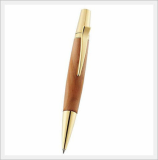 Aria Wooden Ball Point Pen (Apple 24k Gold Plated)