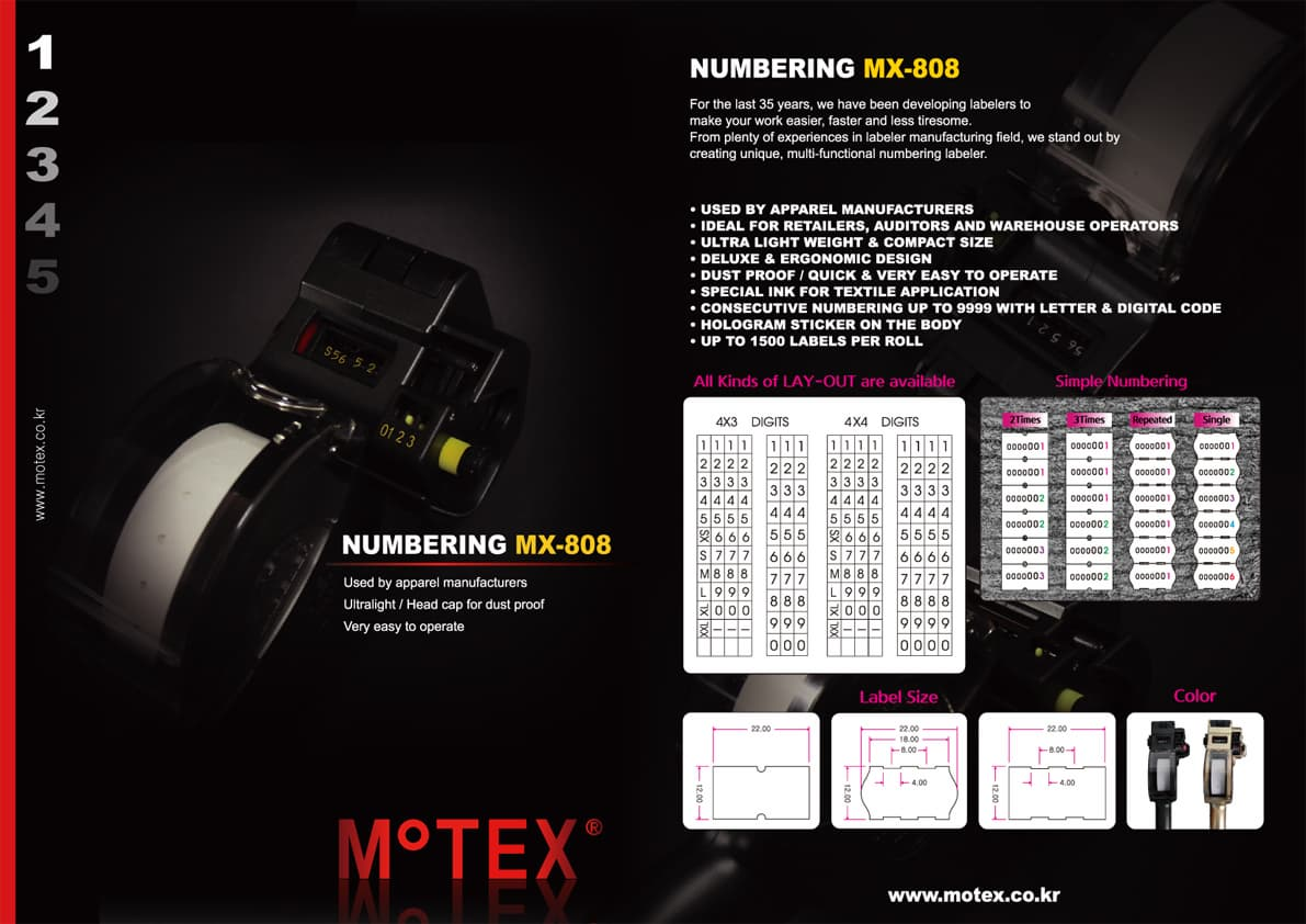 Numbering Labeler - MX-808