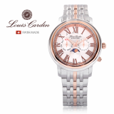 Louis Cardin Moon Phase Swiss made watch Stainless Sapphire