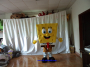 Sponge bob mascot costume
