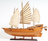 Wooden Model Boat Chinese Pirate Junk Normal