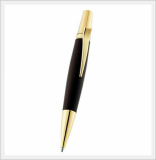 Aria Woden Ball Point Pen (Jujube 24k Ipg Gold Plated)
