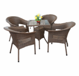 Rattan Chair and Table Outdoor Set