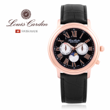 Louis Cardin Moon Phase Swiss made watch LC005